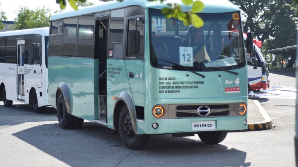 Hino's Modern Jeepneys Receive DOTr Certification