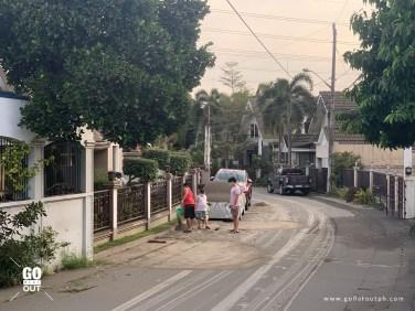 Taal Ash Fall in Sta. Rosa, Laguna