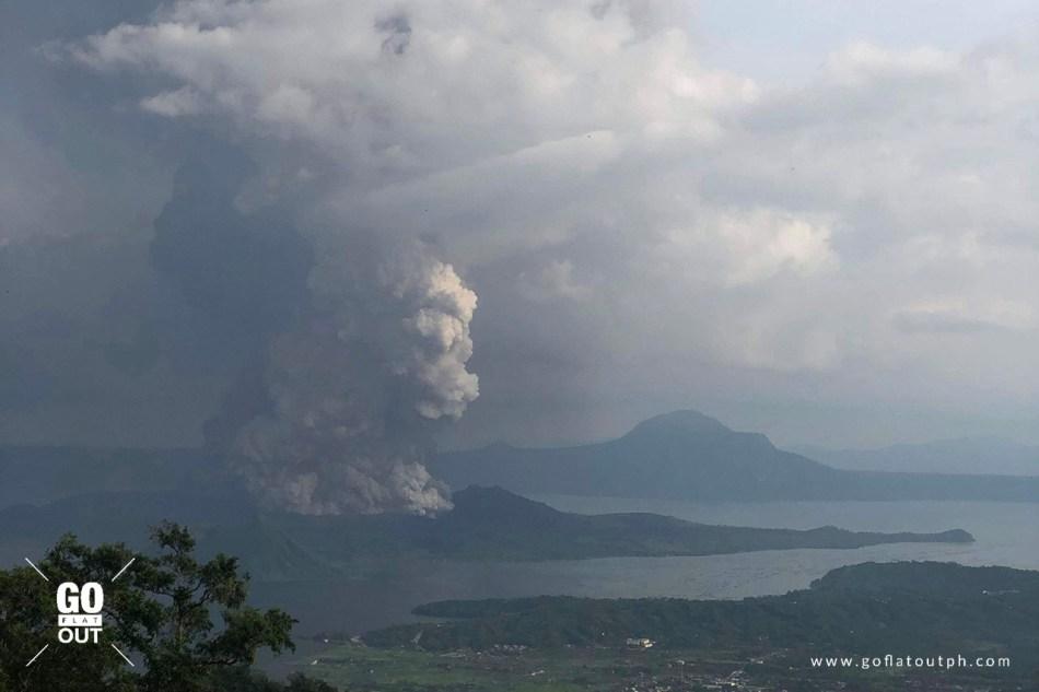 Taal Volcano Eruption Alert Level 3 January 12, 2020