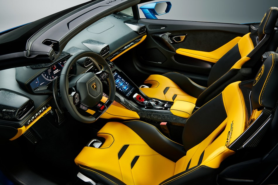 2021 Lamborghini Huracan Evo RWD Spyder Interior
