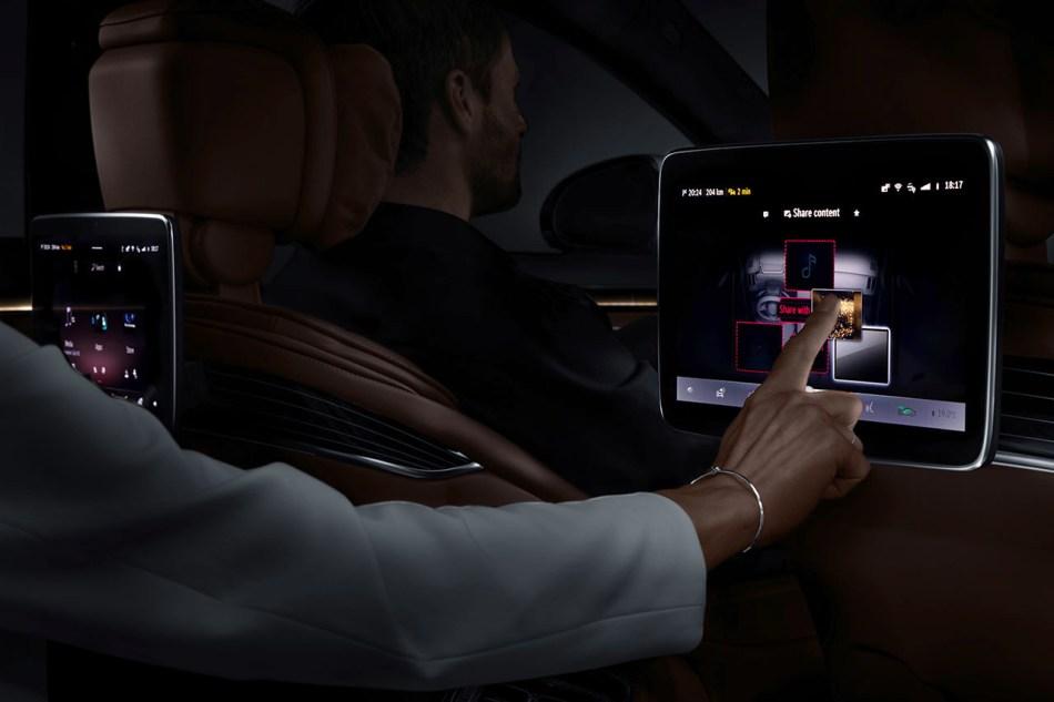 S-Class MBUX Rear Touch Screen