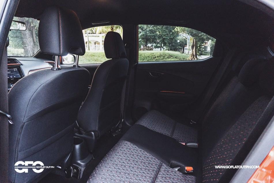 2020 Honda Brio RS Philippines Rear Seats