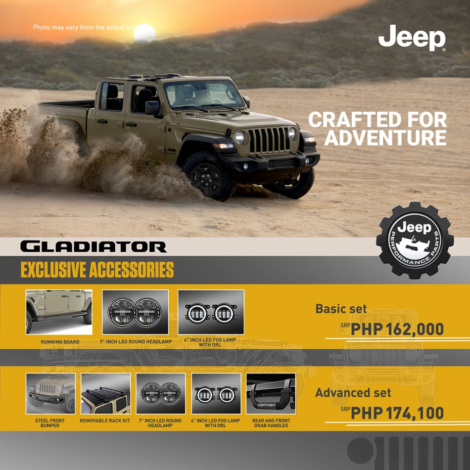 You Can Now Accessorize Your Jeep Gladiator Starting At P162K