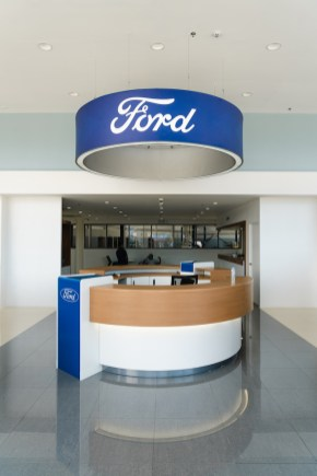 Welcome Pod or Reception with Ford Brand Halo
