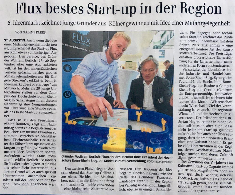 Zeitungartikel; Startup; Region; Flux; goFLUX