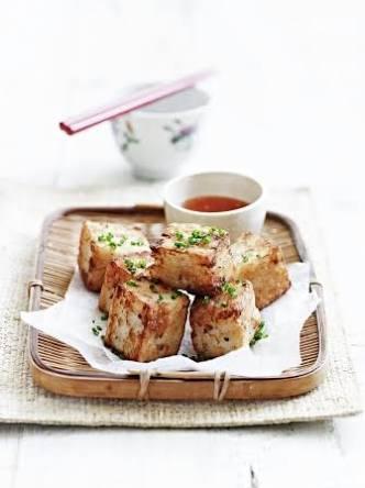Turnip Cakes With Chilli Sauce
