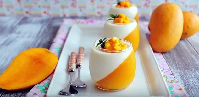 Mango Pannacotta - Healthy, Sweet and Yummy