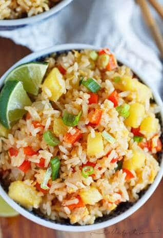 Pineapple Fried Rice - Vegan Recipe For Dinner