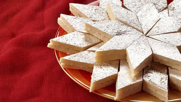 Kaju Barfi – Melt In A Mouth Cashew Slices