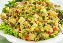 paneer curry pasta salad