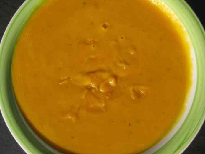 buttery pumpkin soup