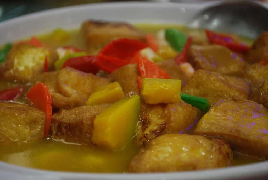 pumpkin and tofu curry