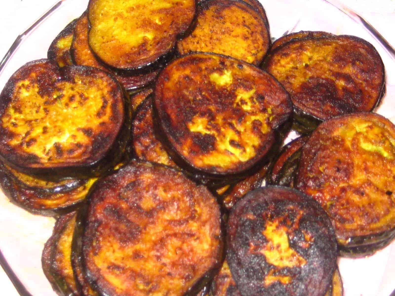 Fried Aubergine