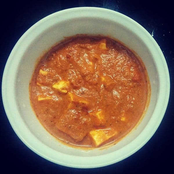 Curry Paneer – Cooked In Ginger Spiced Tomato Curry