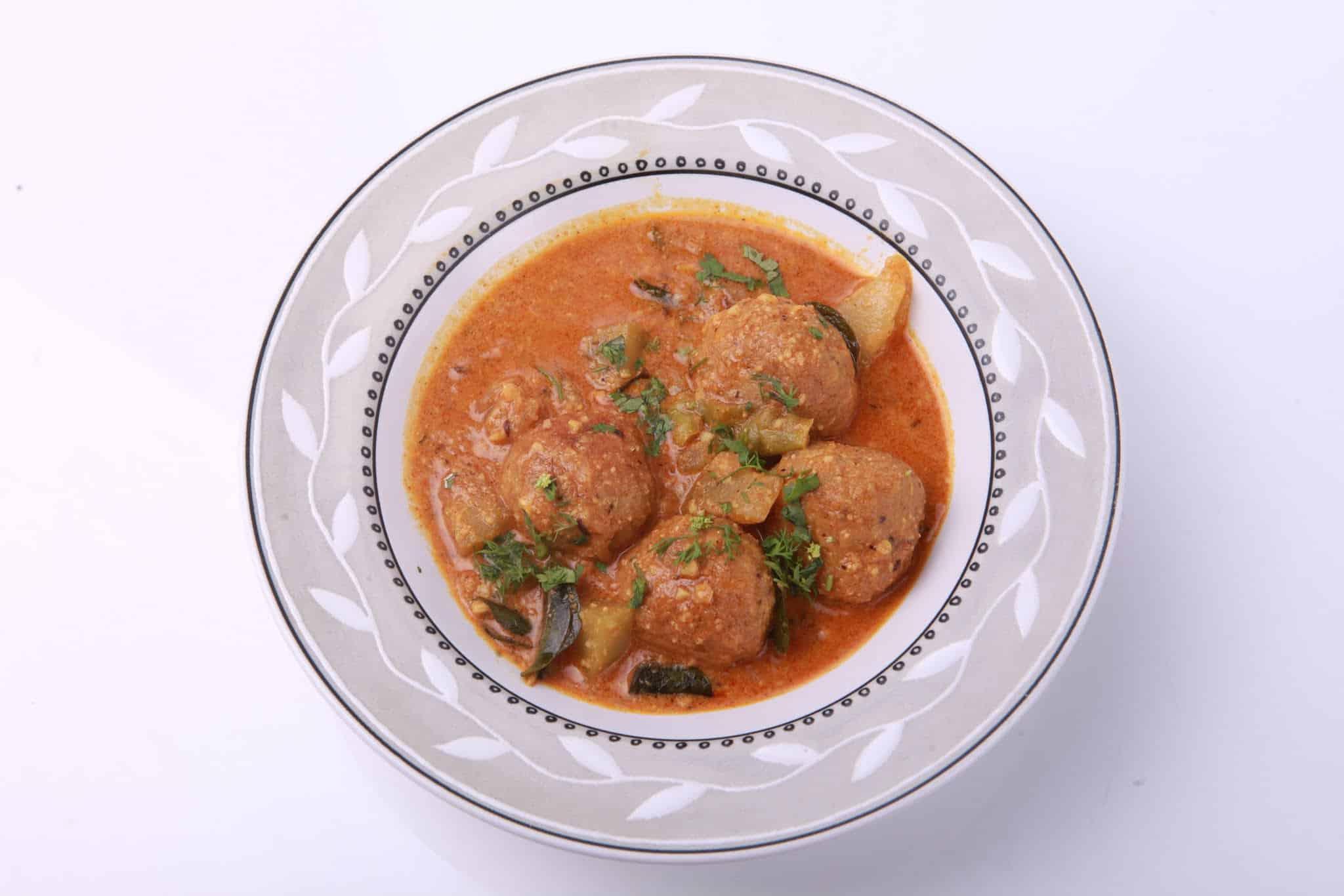 Pigeon Pea Kofta Curry – Steamed Dumplings in Yogurt
