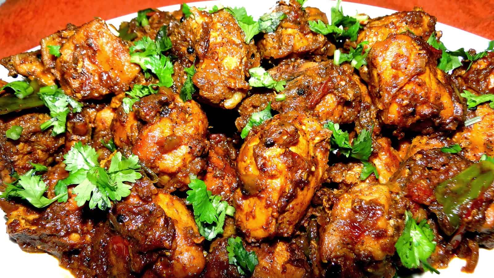 Dry Chicken Curry – Chicken With Very Little Curry