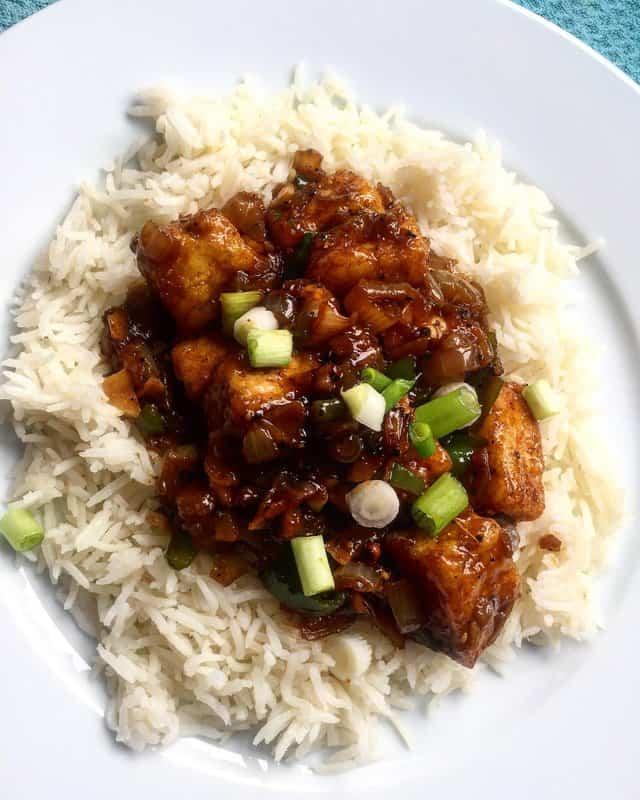 Black Pepper Tofu –