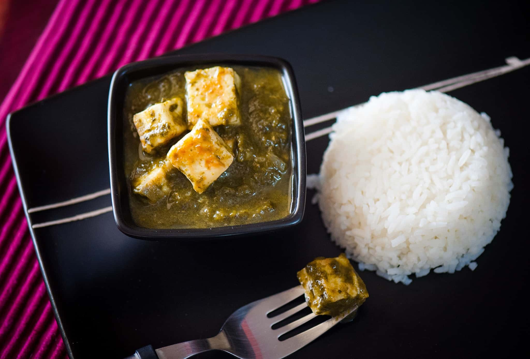 Spinach Tofu Curry