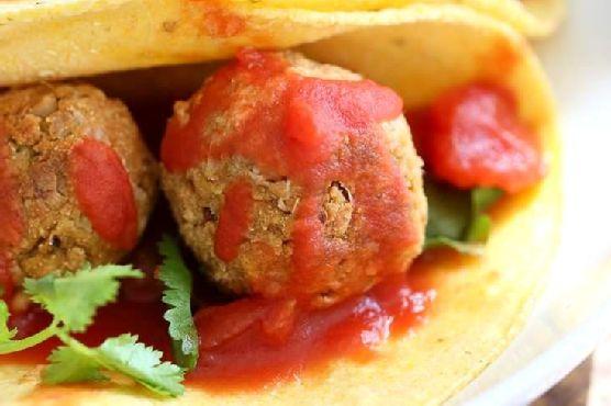 Vegan Meatballs – Jackfruit Balls In Tacos