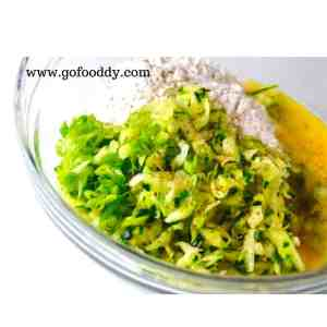 Mixture for Zucchini Fritters