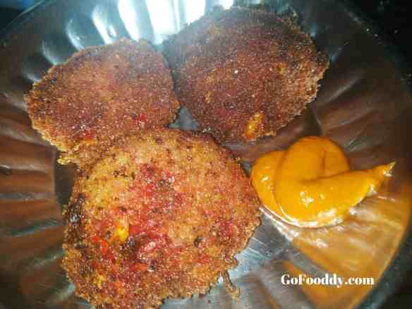 Breadcrumb vegetable fritters