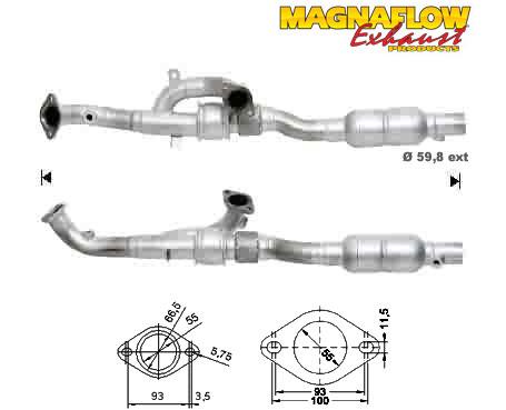 Katalysator Rover 75 2.5i V6 2497ccm 129kW 175PS 25K4F OE