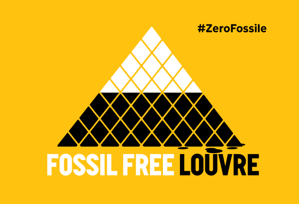 Fossil Free Europe Louvre