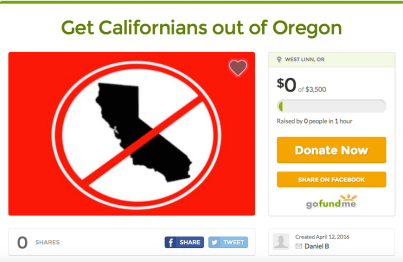 Get Californians out of Oregon
