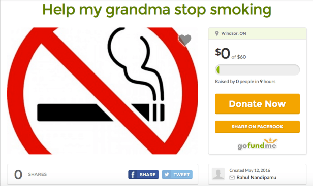 Smoking grandma Gofundme