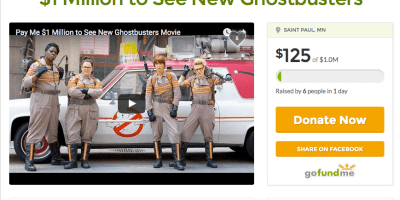Ghostbusters Gofundme