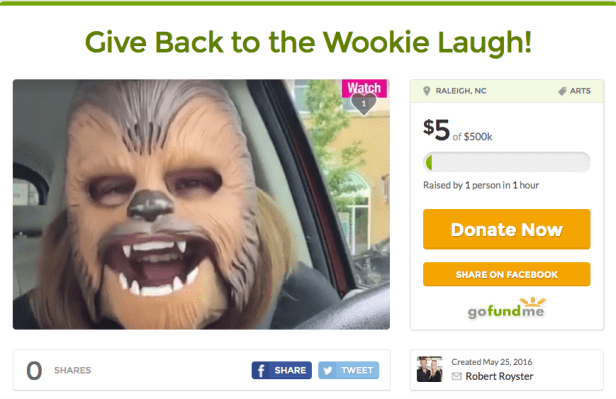 Chewbacca Mom gofundme