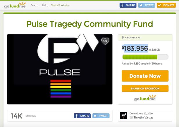 Pulse shooting Gofundme