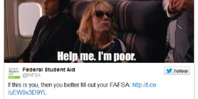 Tasteless FAFSA tweet