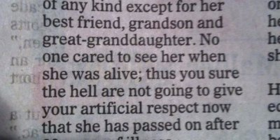 Best obituary evar