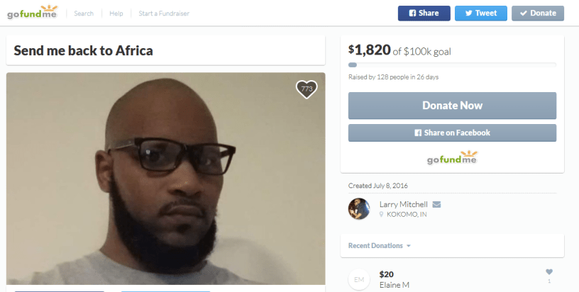 Put your money where your hate is Gofundme