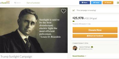 Trump Sunlight Campaign