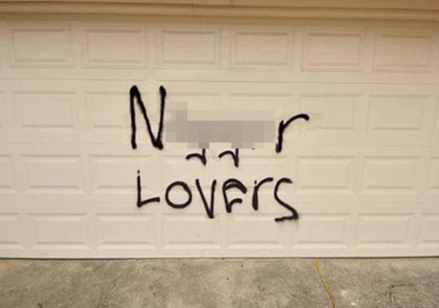 Racist graffiti Texas