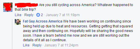 Fat Guy Across America update 2017