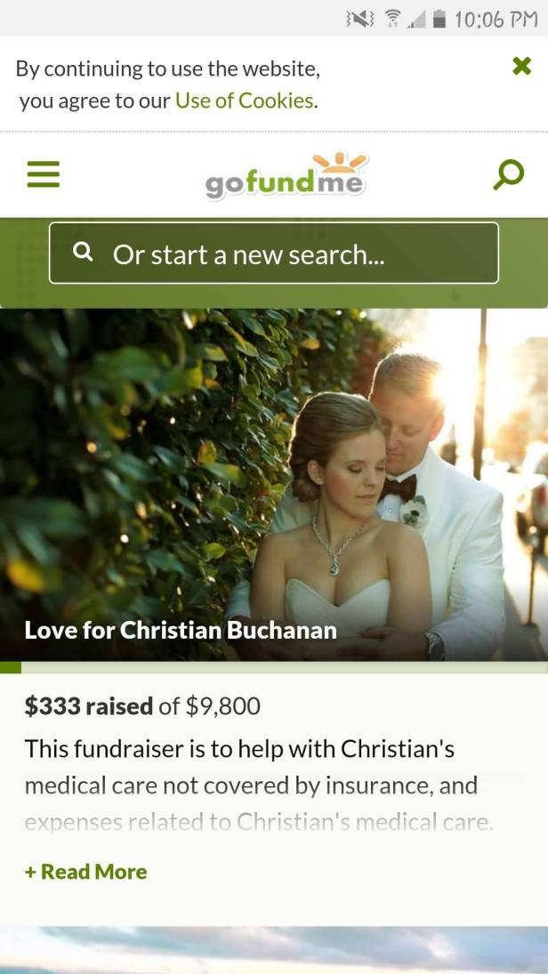Christian Buchanan fake GoFundMe