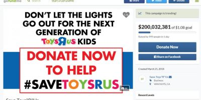 Toys R Us GoFundMe campaign