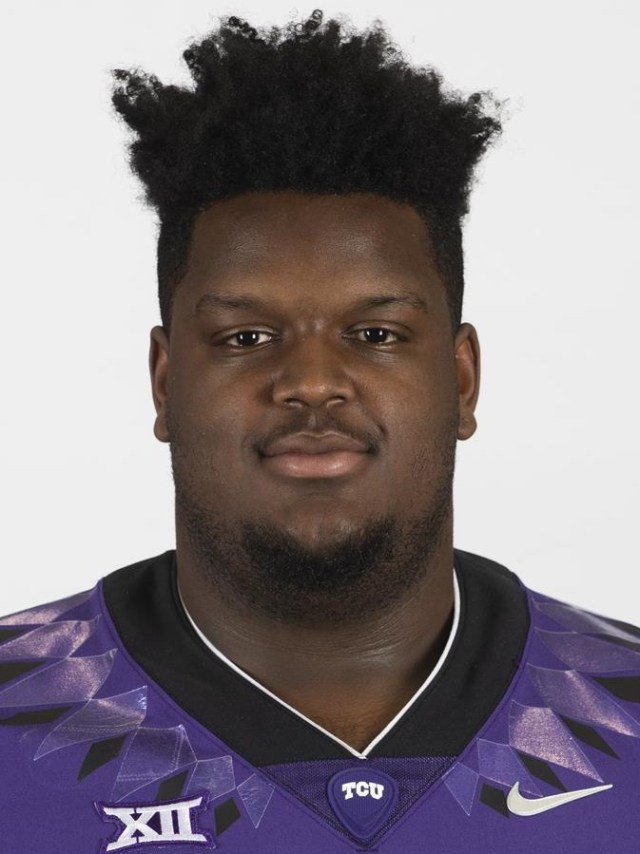 TCU Football Altrique Barlow photographed in Fort Worth, Texas on February 13, 2020. (Photo/Sharon Ellman)