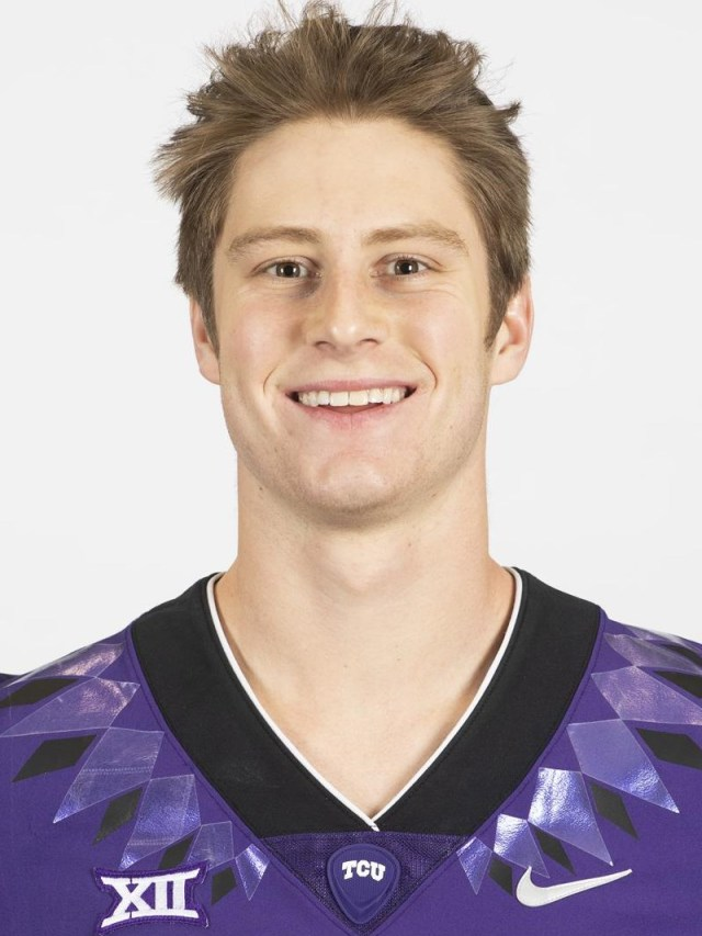 TCU Football Jake Neufeld photographed in Fort Worth, Texas on February 13, 2020. (Photo/Sharon Ellman)