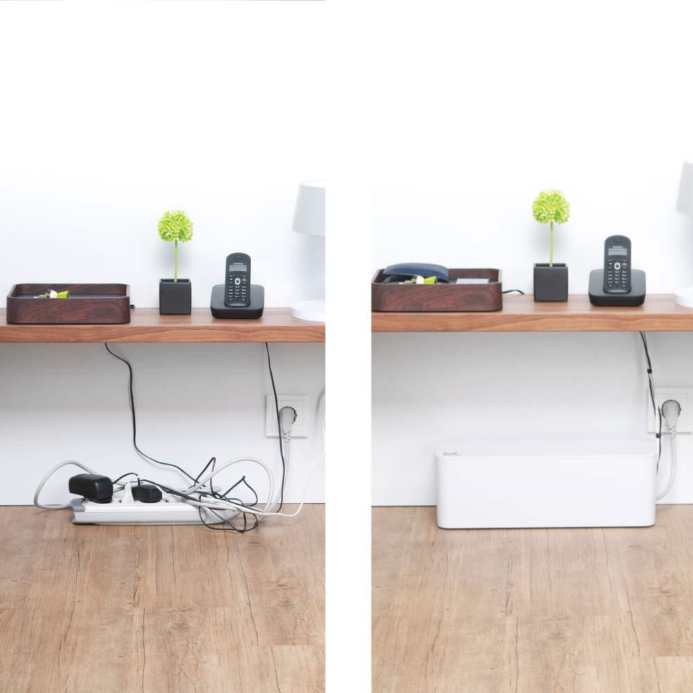 Under Desk Cable Management Organizer CableBox by Blue Lounge