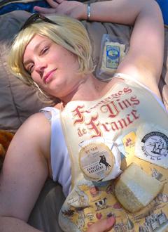Paris Stilton in a Cheese Coma