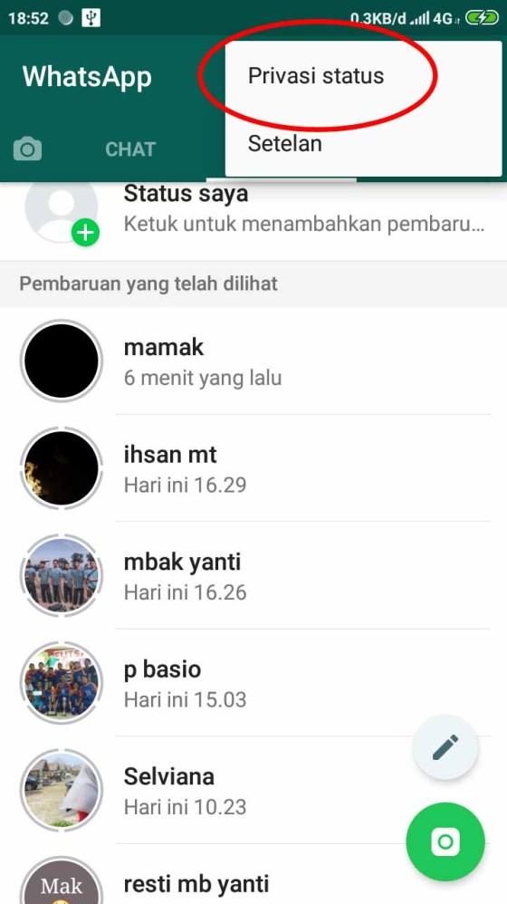Cara Agar Orang Lain Tidak Bisa Melihat Status Whatsapp Kita2