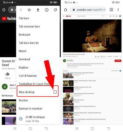 Cara Memutar YouTube Layar belakang hp vivo