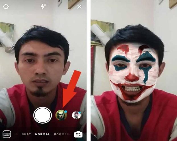 Cara Mengubah Wajah Seperti Joker di Android 3