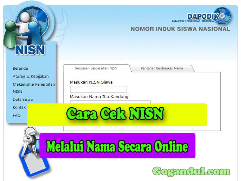 Cara Cek NISN Melalui Nama Secara Online