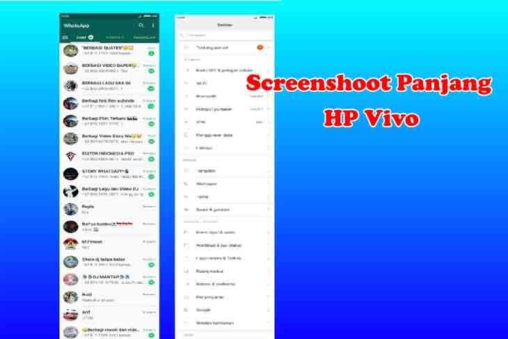 cara screenshot panjang di hp vivo tipe