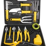 MOSFiATA Garden Tools Set 14 Pcs Stainless Steel Garden Tool Kit